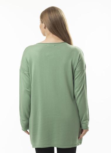 Stamina Büyük Beden Tunik Yeşil
